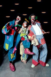 From Left to right: yours truly, the boss clown, and my assistant.