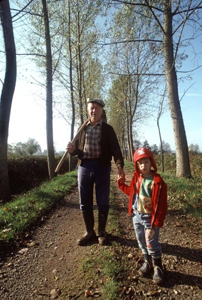 grandfather-and-boy-on-path-in-France-0936